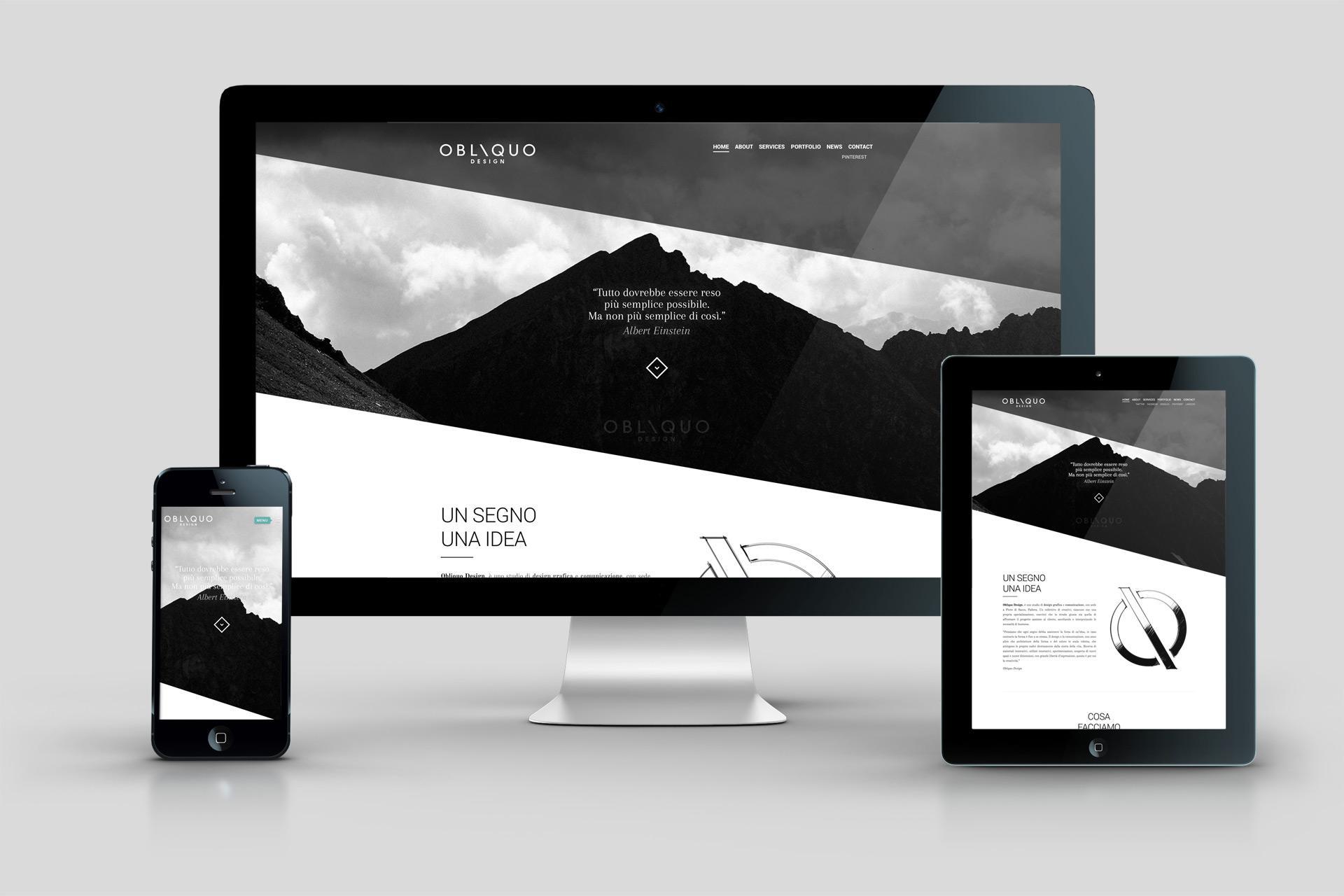realizza il tuo sito web per padova venezia obliquo design
